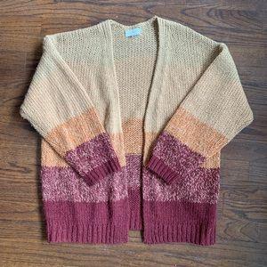 Lucky Brand stripe oversized cardigan (NWOT)